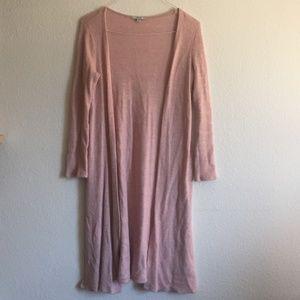Knit Pink/Blush Long Sweater Cardigan